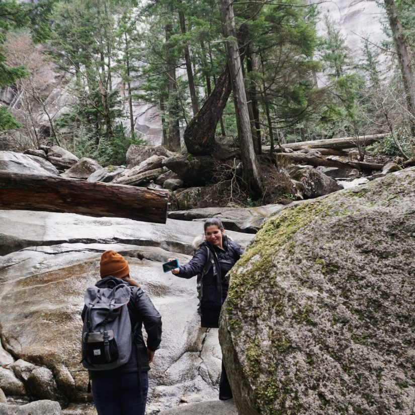 Yervana features BeWild Adventures and a summer day hike to Elfin Lakes - photo of two people hiking