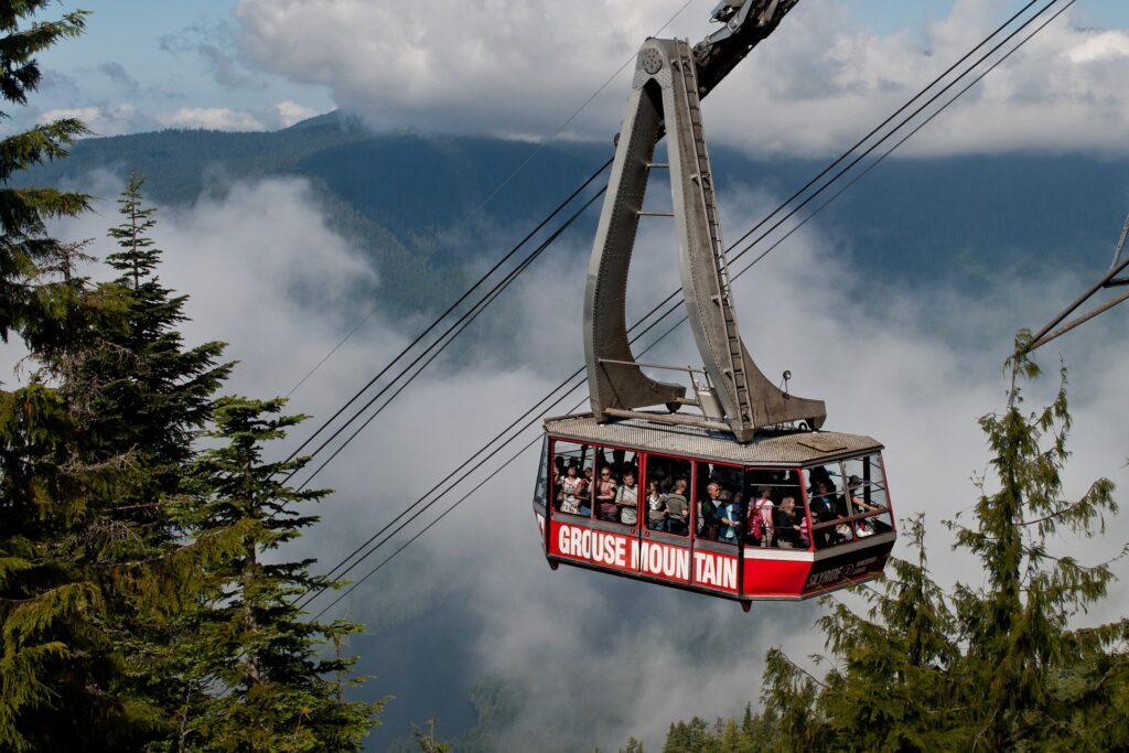 Cable car near Vancouver